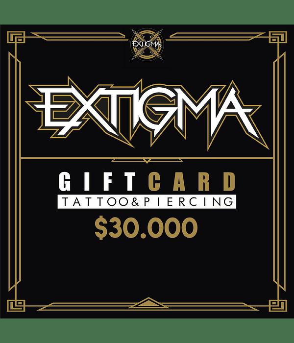 Gift Card Piercing Extigma $30.000