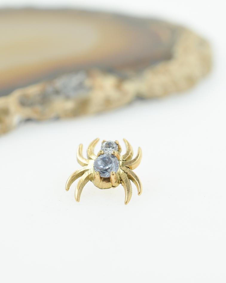 Araña con zirconia cristal  en oro amarillo - 14g