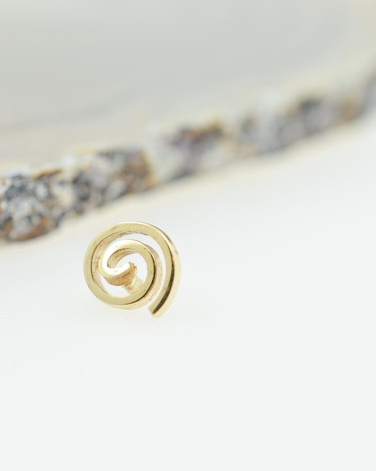 Espiral en oro amarillo - 14g