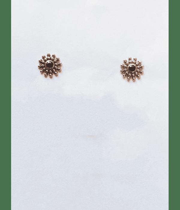 Set de accesorios de oro rosa con gema negra en 18g * 6,7mmm
