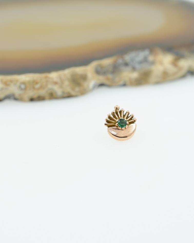 Accesorio ornamental con gema en oro amarillo - 16g