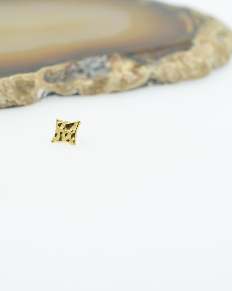 Destello martillado en oro amarillo - 16g
