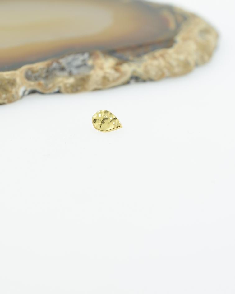 Gota martillada en oro amarillo - 16g