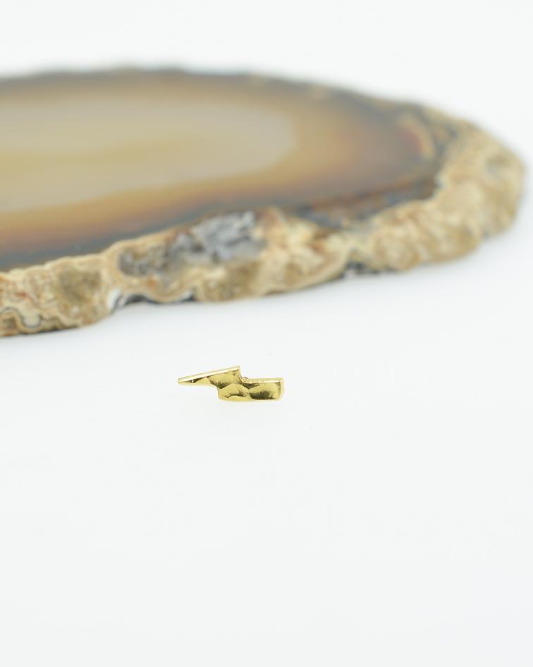 Rayo martillado en oro amarillo - 16g