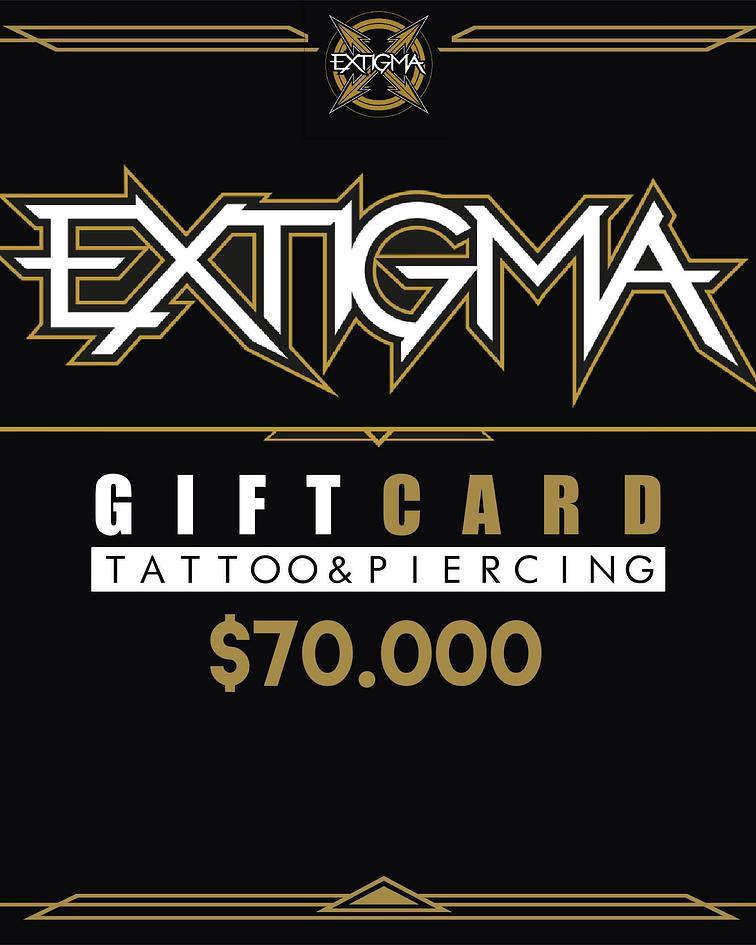 Gift Card Piercing Extigma $70.000