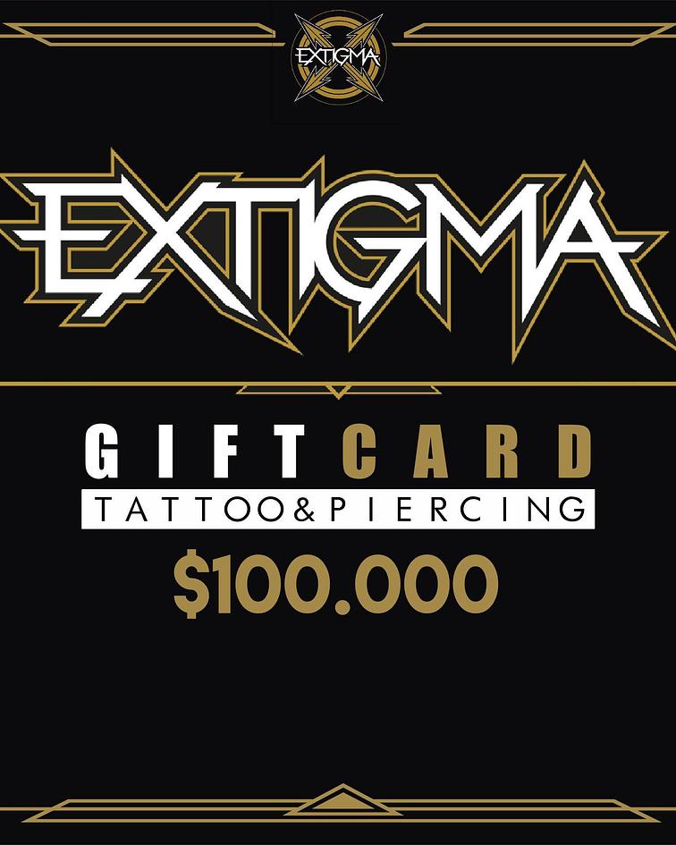 Gift Card Piercing Extigma $100.000