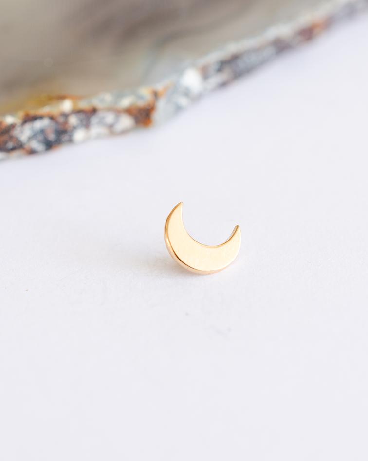 Media luna lisa en oro amarillo - 14g
