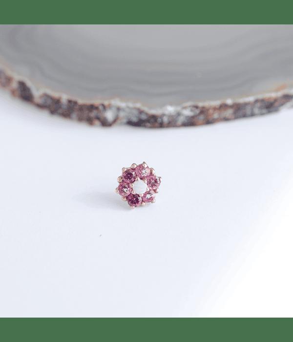 Gemmed Fleurette - Threadless o pin