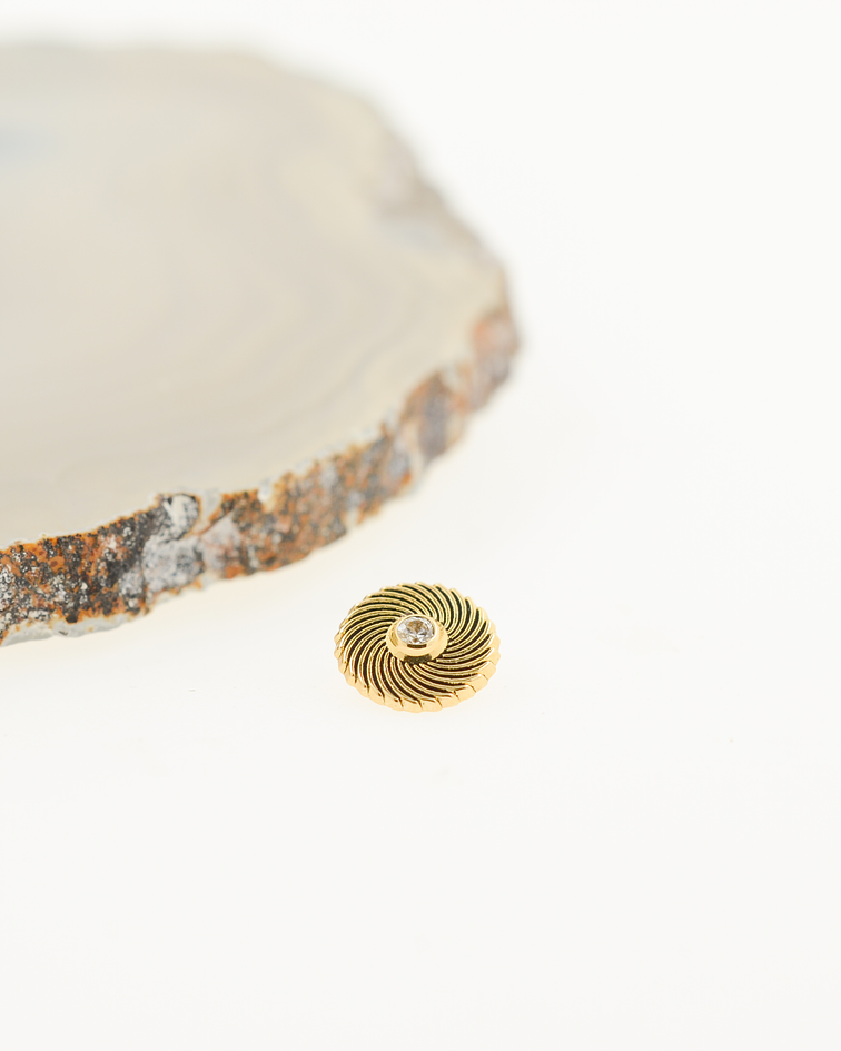 Remolino gema en oro amarillo - 16g