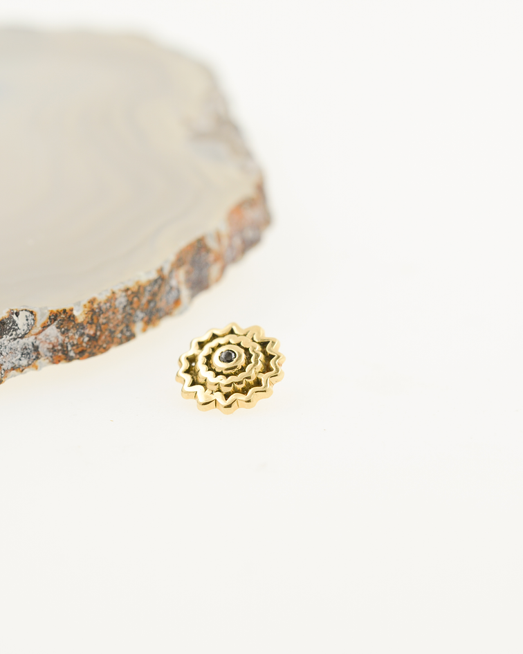 Sol ornamental en oro amarillo - 14g