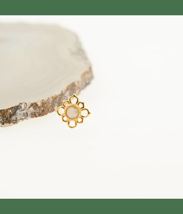 Mandala con ópalo en oro amarillo - 14g