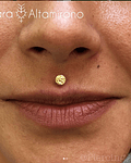Disco martillado en oro amarillo - 14g