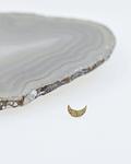 Luna martillada de oro amarillo - 14g