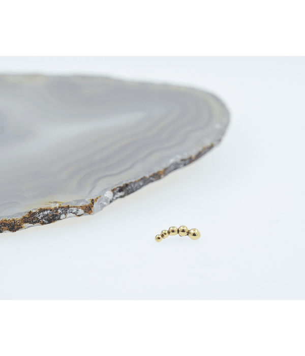 Irene - Clúster de oro amarillo - 14g
