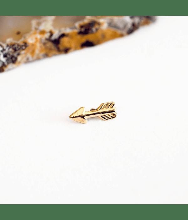 Flecha de oro con rosca en oro amarillo - 14g