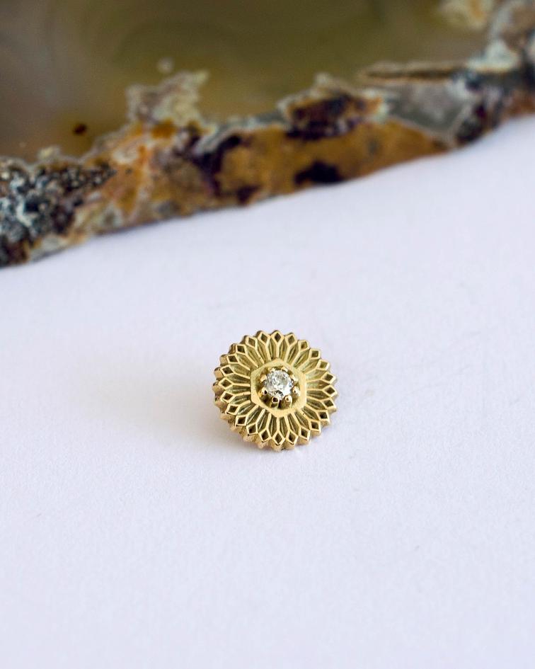Mandala 4 en oro amarillo - 14g