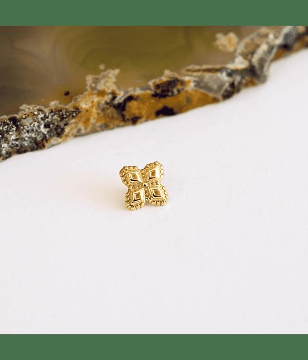 Cruz de oro milgrain en oro amarillo - 16g