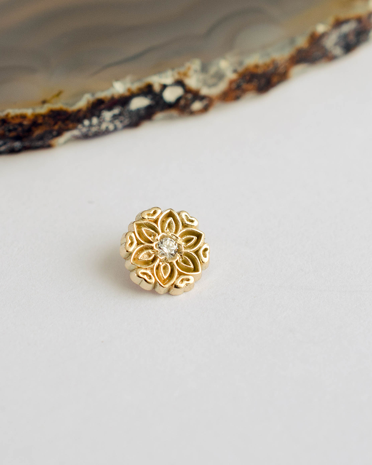 Mandala 6 en oro amarillo - 14g