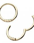 Segment ring triple gema en oro amarillo