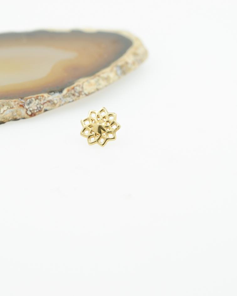 Mandala de oro amarillo - Threadless o pin
