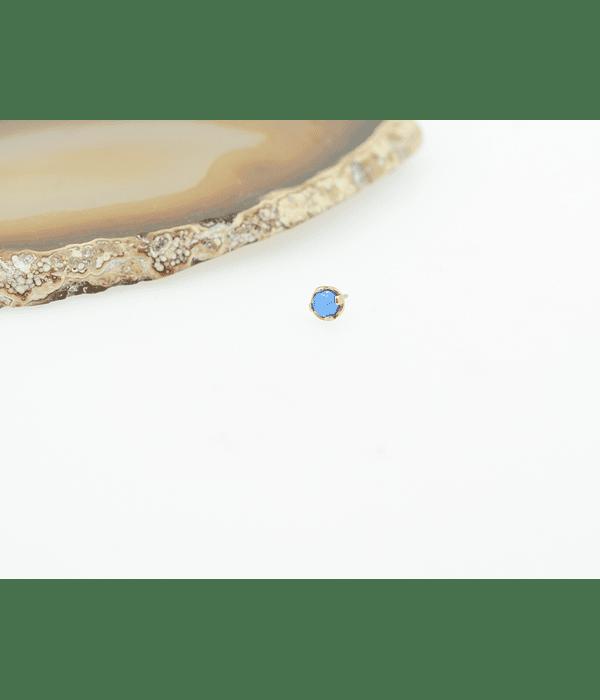 Accesorio con Opalo azul prong set - threadless o pin