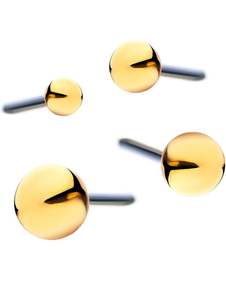 Bolita de oro amarillo - Threadless o pin