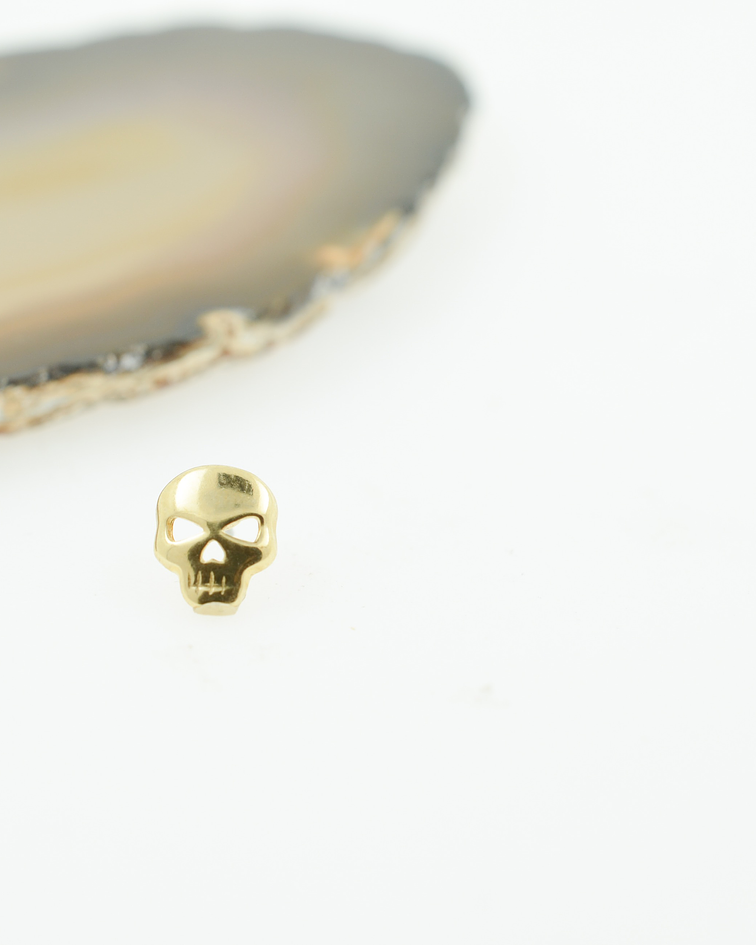 Skull en oro amarillo - Threadless o pin
