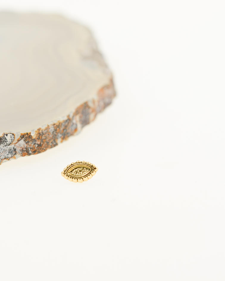 Accesorio ornamental oval oro amarillo - 16g