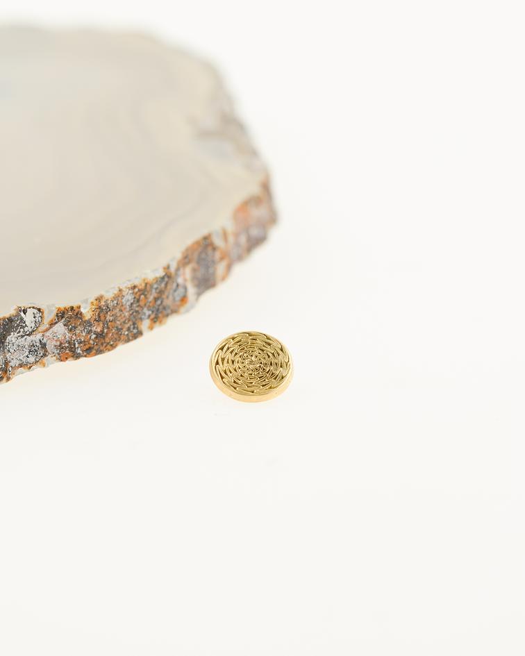 Accesorio ornamental redondo oro amarillo - 14g