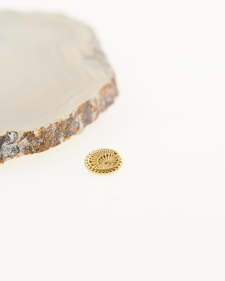 Accesorio ornamental espiral oval - oro amarillo - 14g