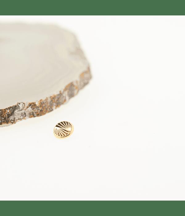 Accesorio ornamental circular oro amarillo - 16g