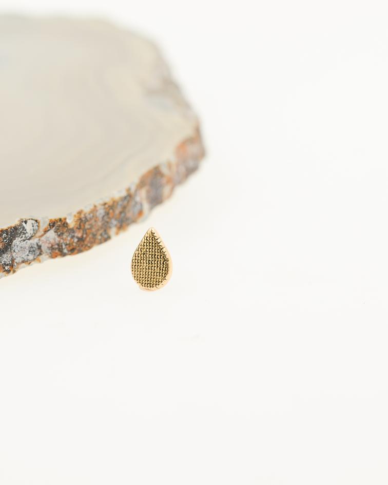 Accesorio ornamental gotita oro amarillo - 14g