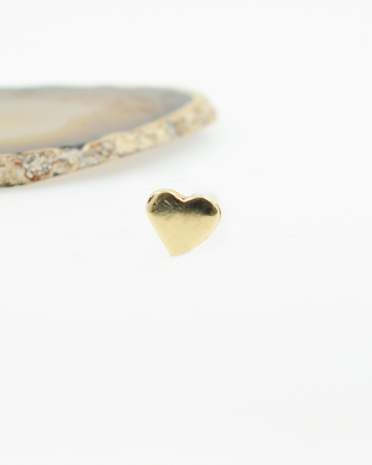 Corazón liso oro amarillo - 16g