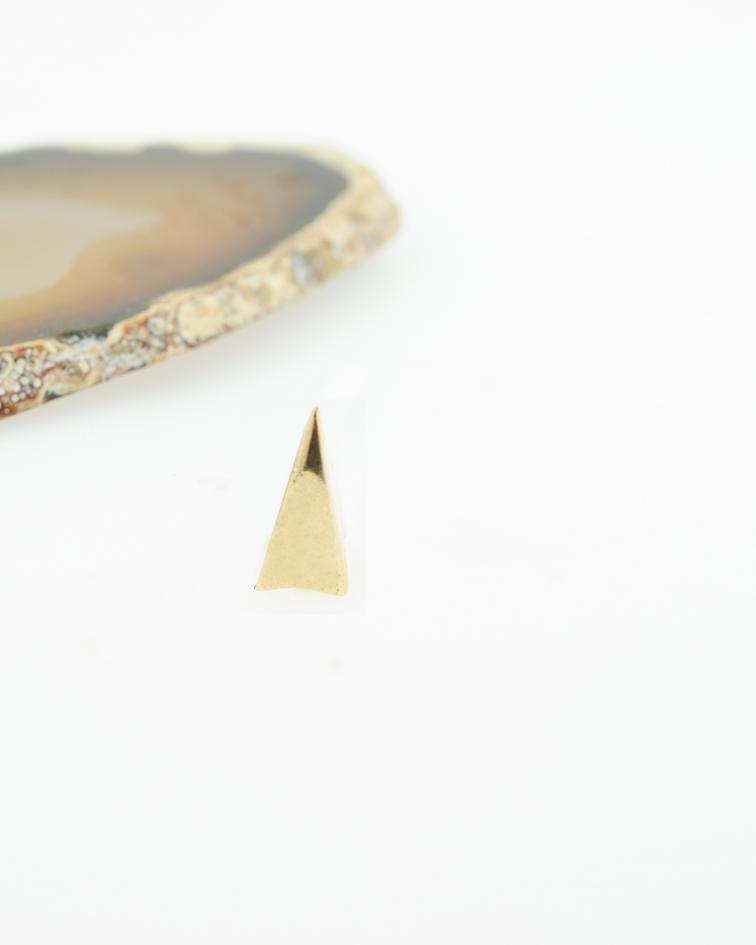 Accesorio  triángulo alargado oro amarillo - 14g