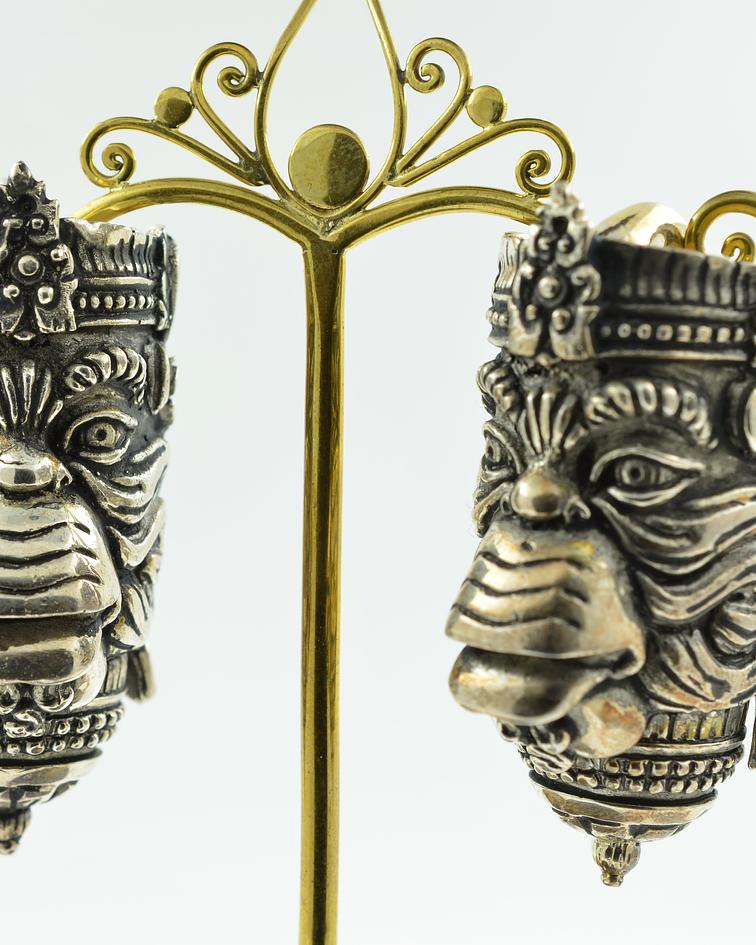 Hanuman Ear Weights in white Brass