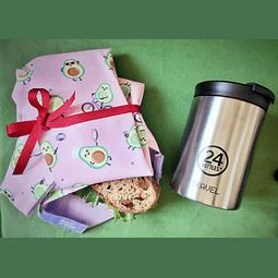 Copo Térmico & Bolsa para lanche