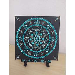 Mandala Intuitiva em Tela com cavalete