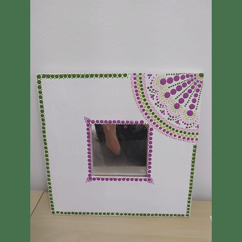 Mandala Intuitiva em MDF com Espelho