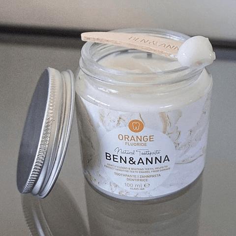 Pasta de Dentes Natural com Flúor Sabor Laranja - Ben & Anna