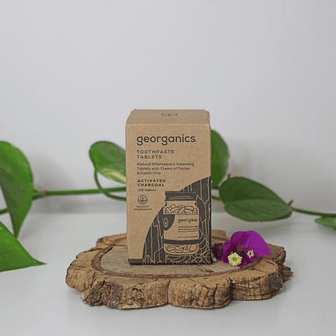 Pasta de dentes em Pastilha Georganics – Carvão ativado