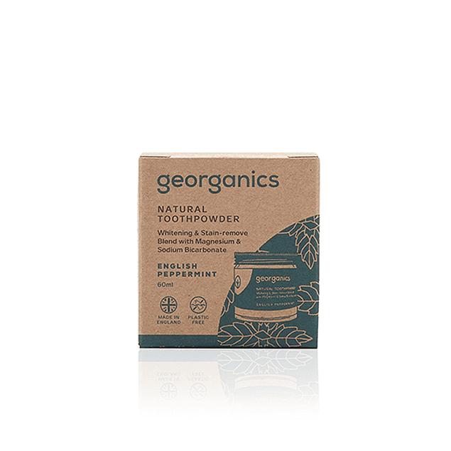 Pó dentário natural Georganics– Menta Inglesa