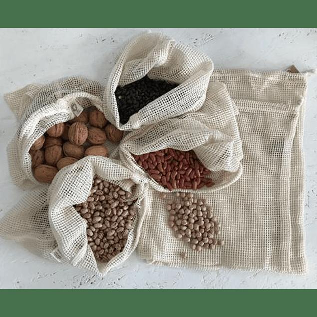 Saco de rede algodão orgânico