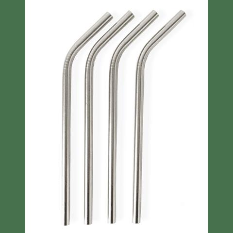 Palhinha Aço Inoxidável Curva - Unidade
