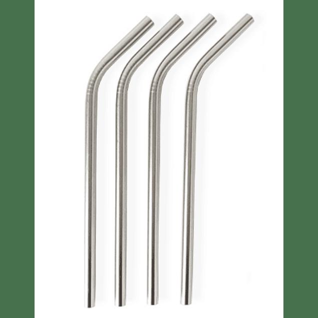 Last Straw - Palhinhas Aço Inoxidável Curva - Unidade
