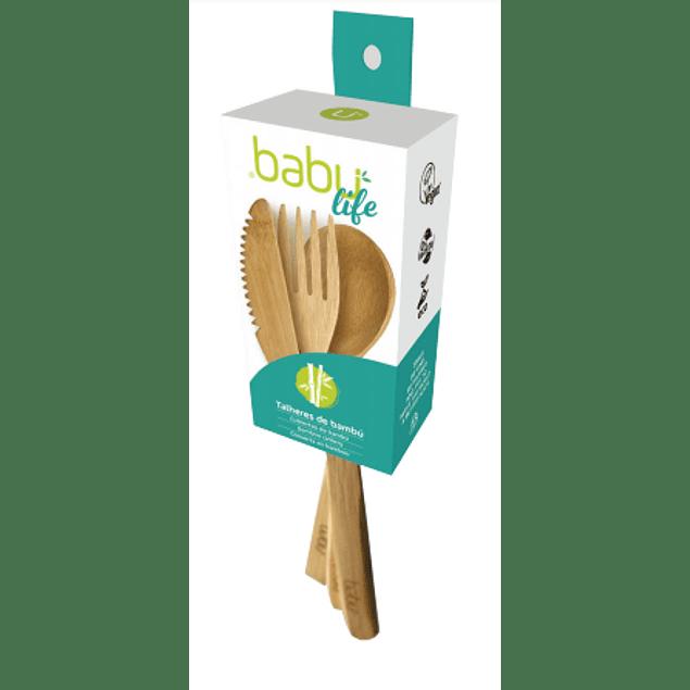 Conjunto de Talheres de Bambu