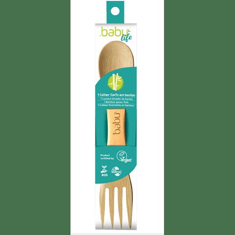 Colher-Garfo de Bambu