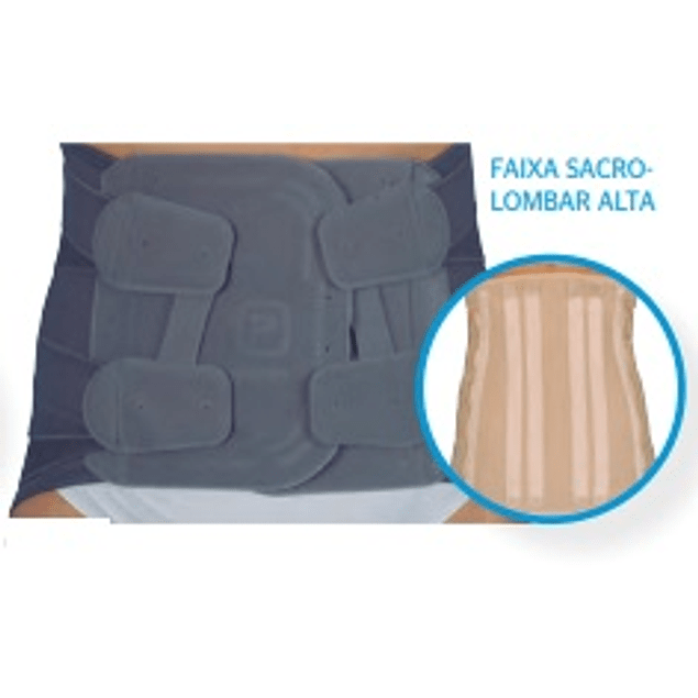 Faixa sacrolumbar semirrígida Alta