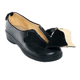 Sapato em Pele Com Abertura Total