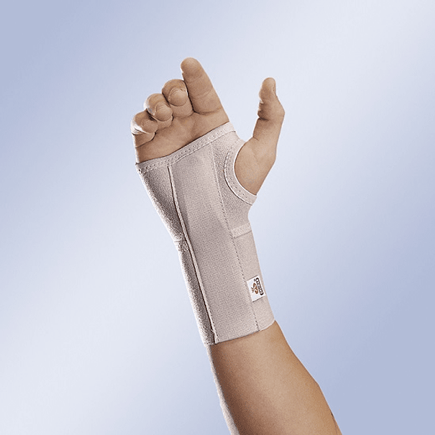Pulso elástico curto aberto com tala flexível palmar removível
