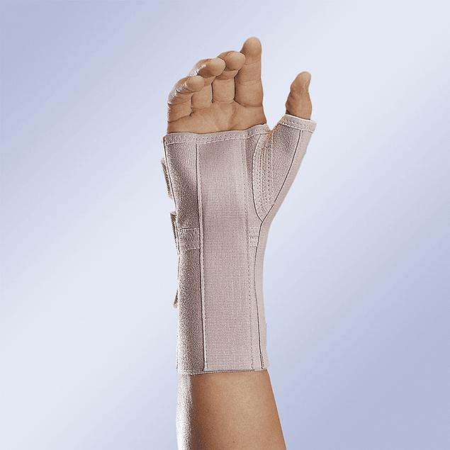 Pulso comprido aberto com tala de palmar e polegar